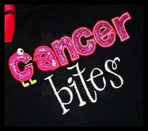 Cancer Bites Applique Machine Embroidery Design