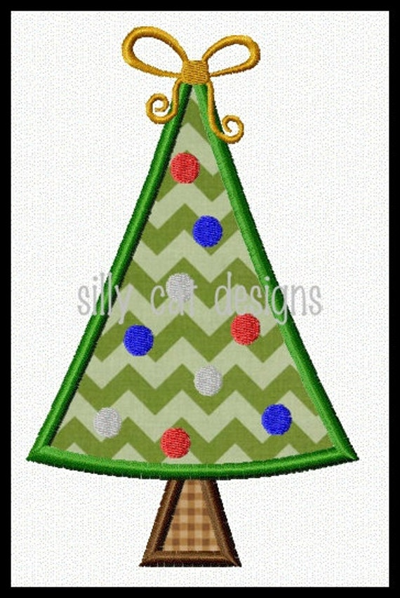 Christmas Tree Applique Design