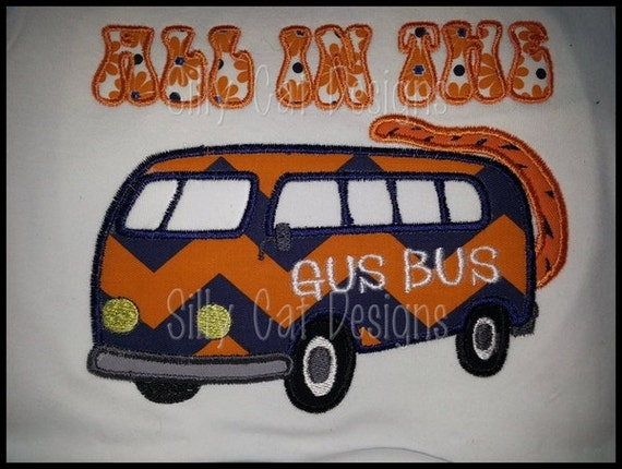 All In The Gus Bus Applique Design