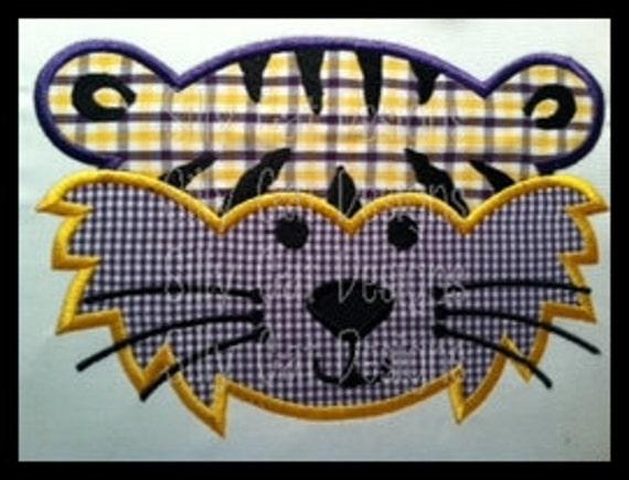 Tiger Applique Machine Embroidery Design