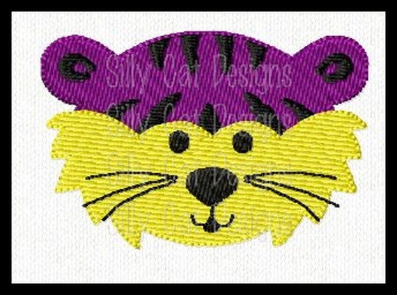 Tiger Mini Fill Stitch Embroidery Design
