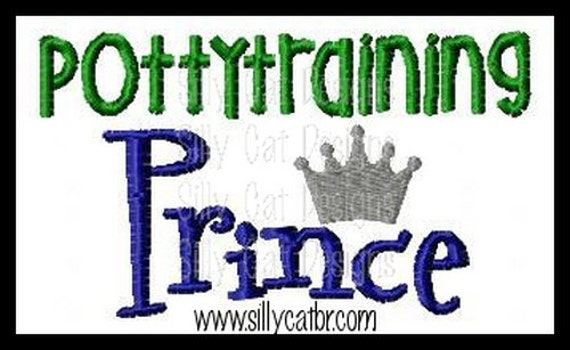 Pottytraining Prince Applique Design