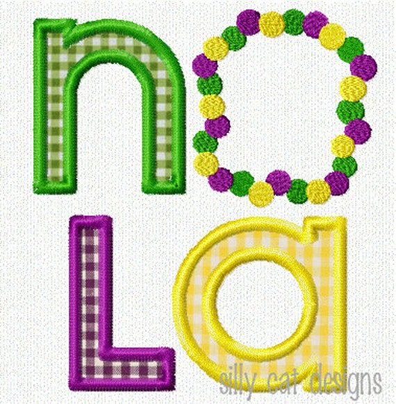 NOLA Beads Applique Machine Embroidery Design