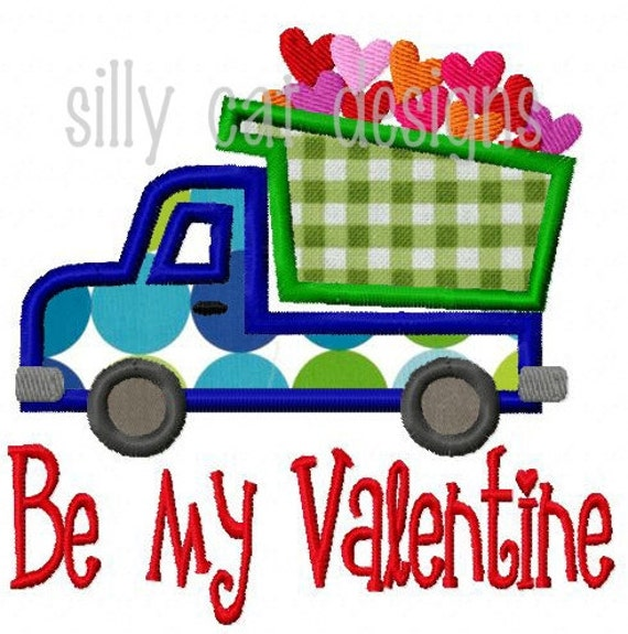 Valentine Truck Applique Design