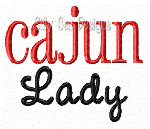 Cajun Lady Embroidery Design