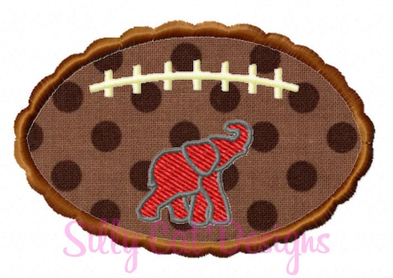 Scallop Football Elephant Applique