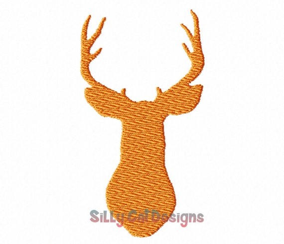 Deer Head Machine Embroidery Design