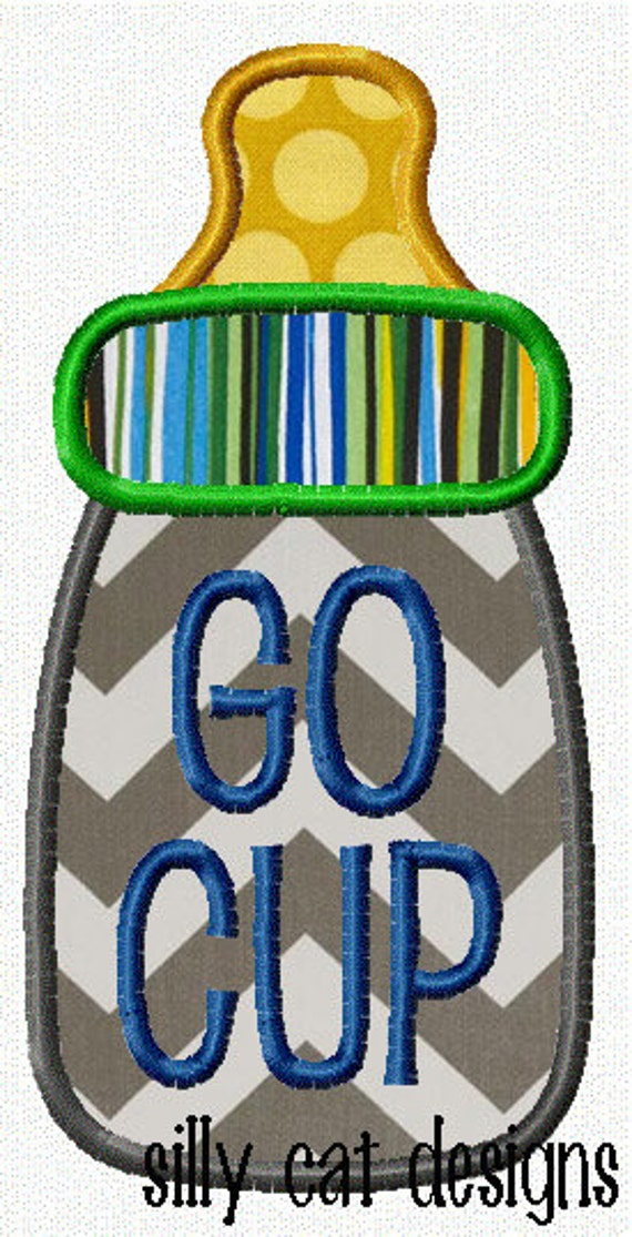 Go Cup Applique Machine Embroidery Design