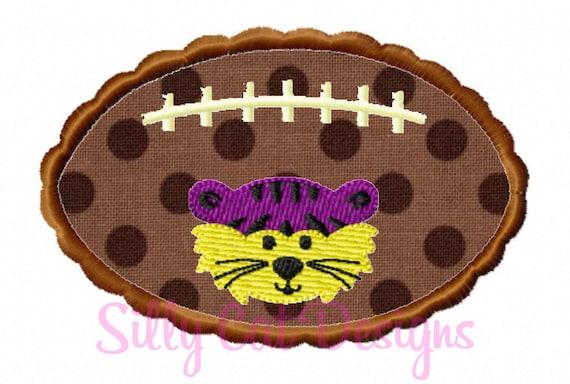 Scallop Football Tiger Applique