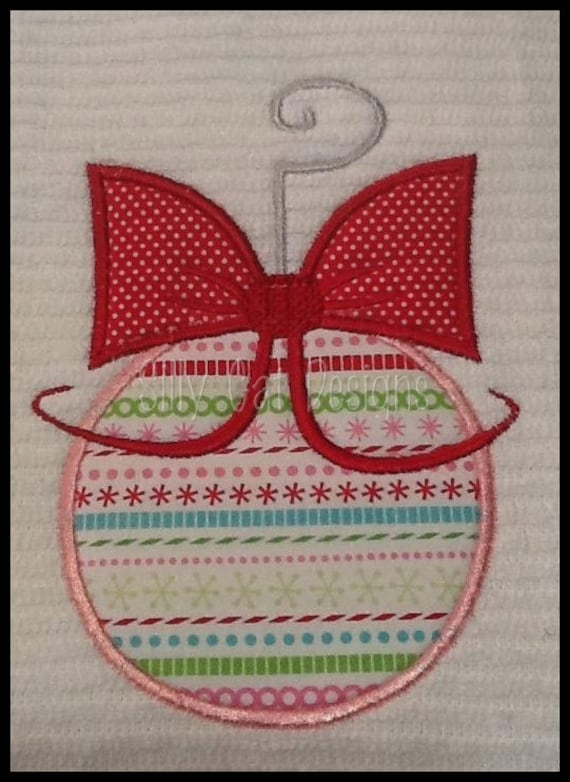 Christmas Ornament Applique Design