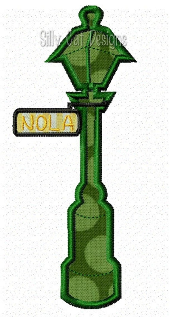 NOLA Street Sign Applique Embroidery Design