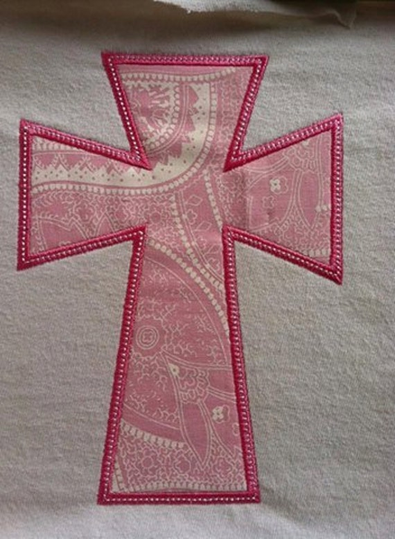 Cross Applique Machine Embroidery Design