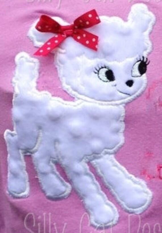 Lamb Applique Machine Embroidery Design