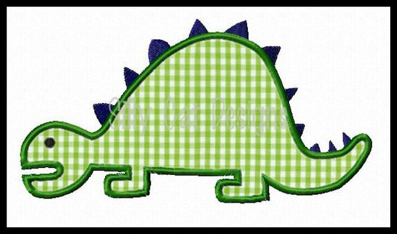 Stegosaurus Dinosaur Applique Design