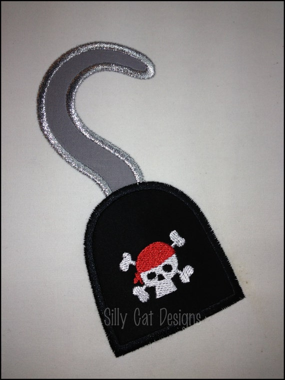 Pirate Hook Applique Machine Embroidery Design