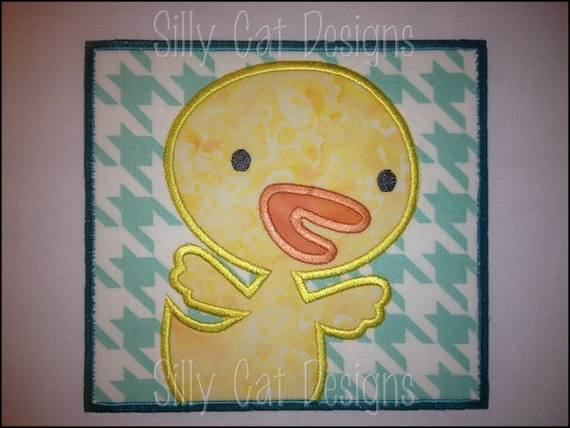 Chick Patch Applique Machine Embroidery Design