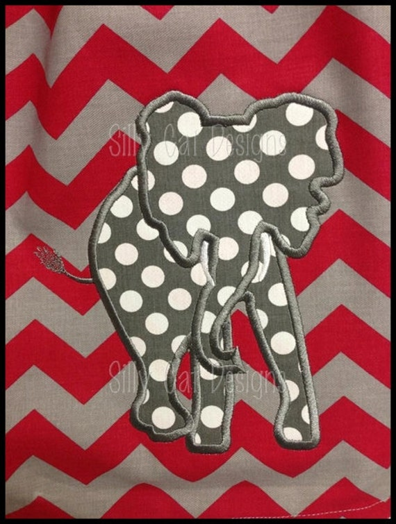 Elephant2 Applique Machine Embroidery Design