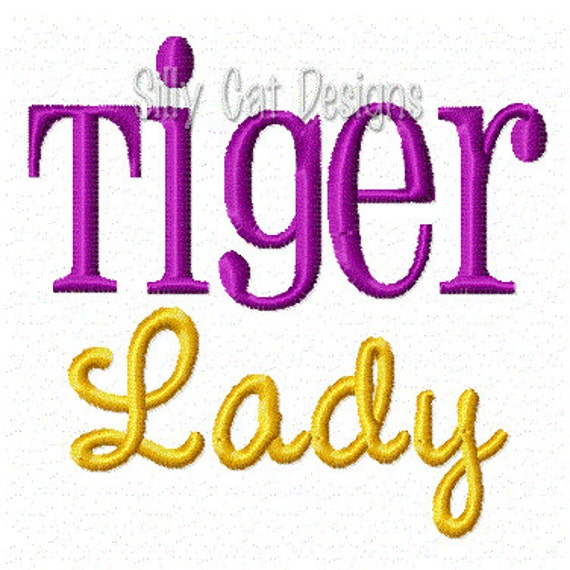 Tiger Lady Embroidery Design