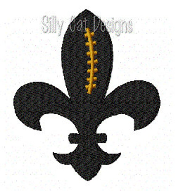 Football Fleur De Lis Mini Embroidery Design