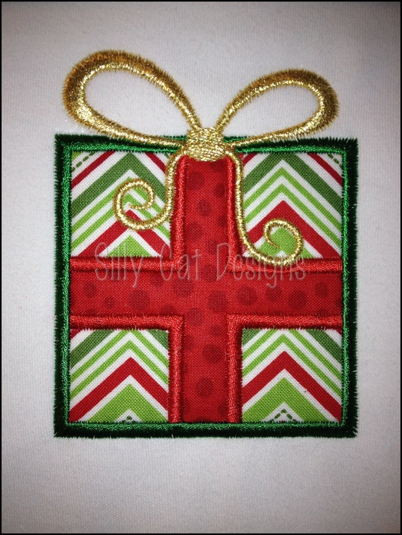 Christmas Present Applique Design
