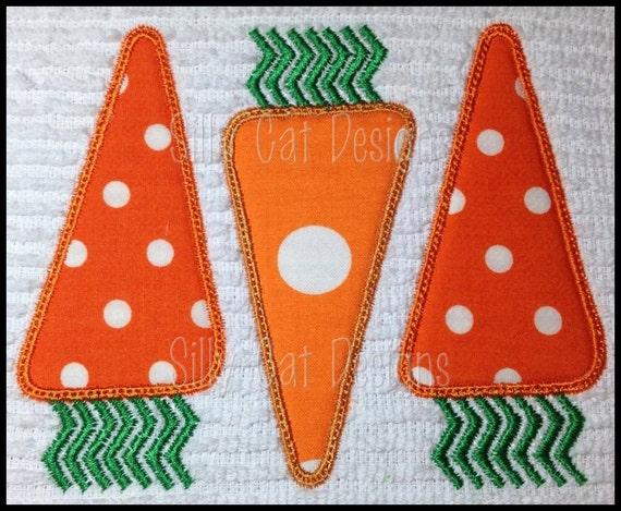 Carrot Trio Applique Machine Embroidery Design