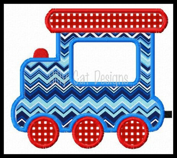 Applique Train Design