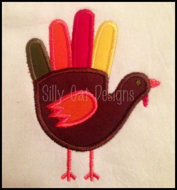 Turkey Hand Applique Embroidery Design