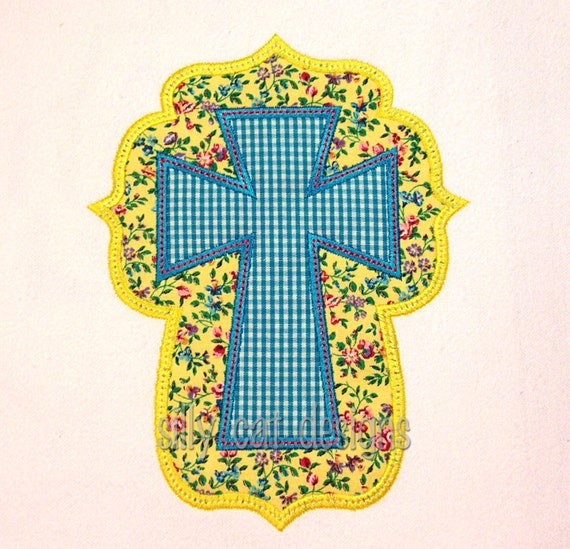 Cross Patch Applique Machine Embroidery Design