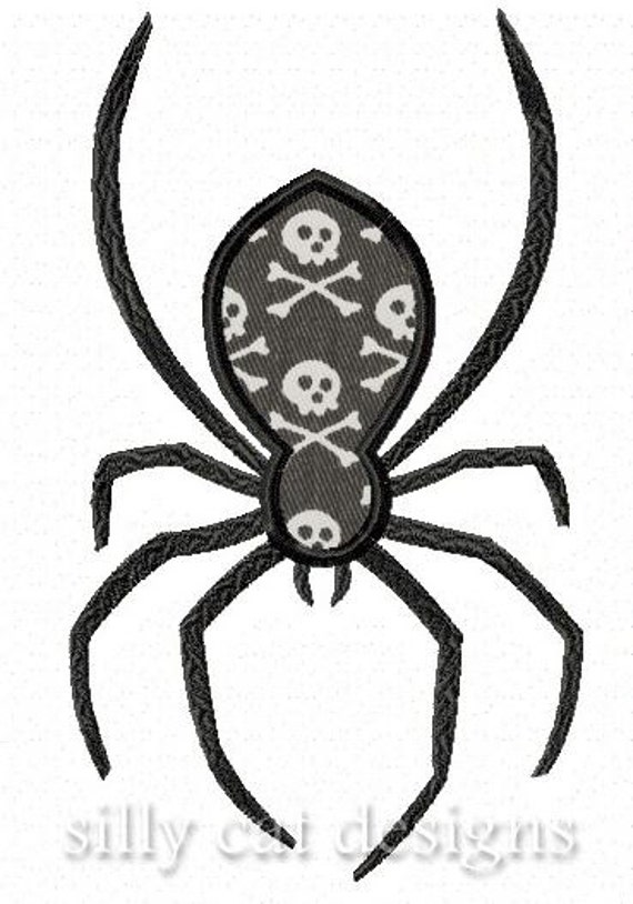 Spooky Spider Applique Embroidery Design