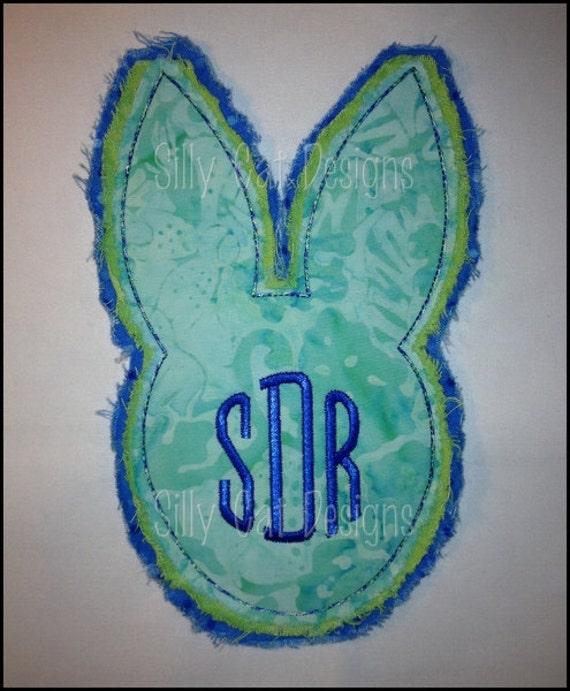 Raggy Bunny Applique Machine Embroidery Design