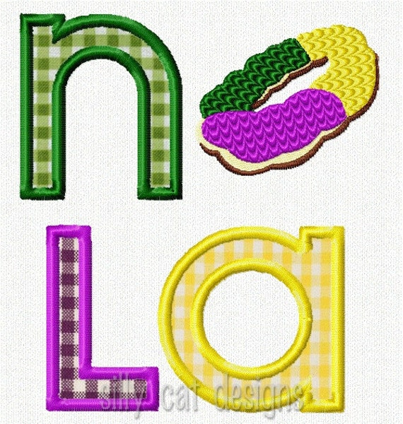 NOLA King Cake Applique Machine Embroidery Design