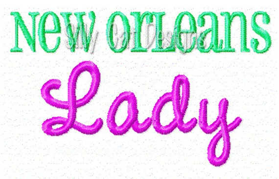 New Orleans Lady Embroidery Design