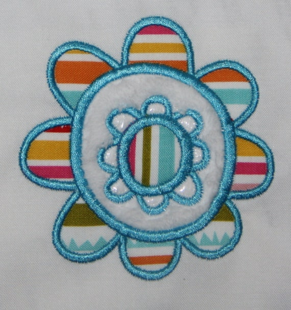 Happy Flower Machine Applique Design