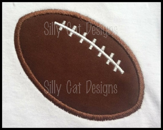SMALL Football Applique Design  (Pocket Tee Size)