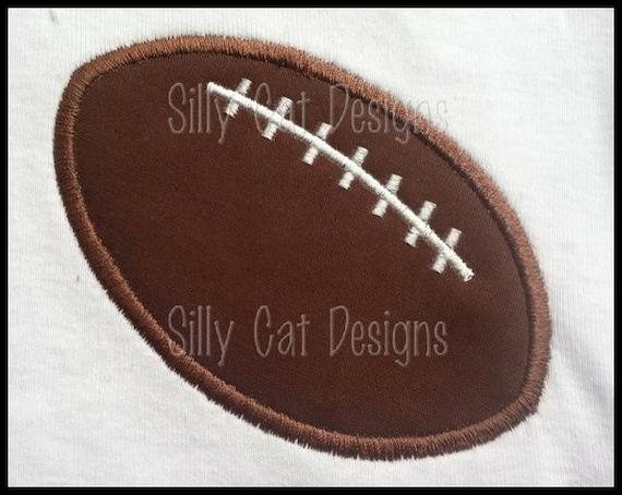 MEDIUM Football Applique Design