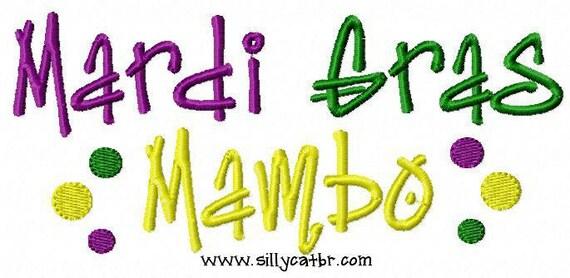 Mardi Gras Mambo Embroidery Design