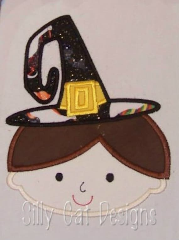 Boy Witch Applique Design