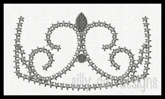 Delicate Crown 1 Embroidery Design
