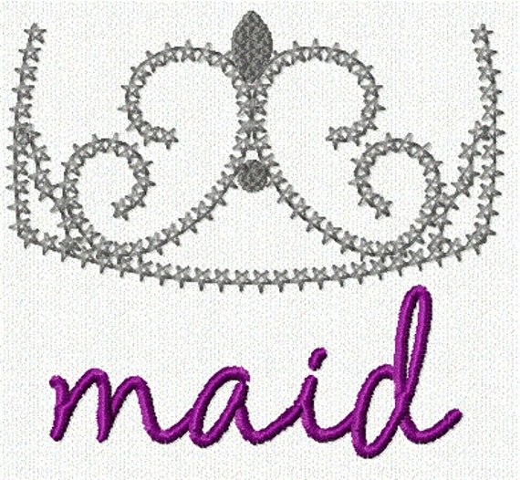 Maid Delicate Crown 1 Embroidery Design