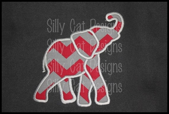 MEDIUM Elephant Applique Embroidery Design