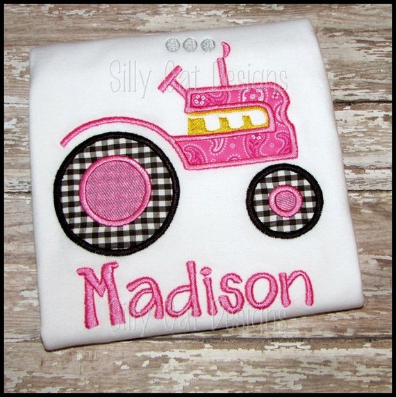 Applique Vintage Tractor Design