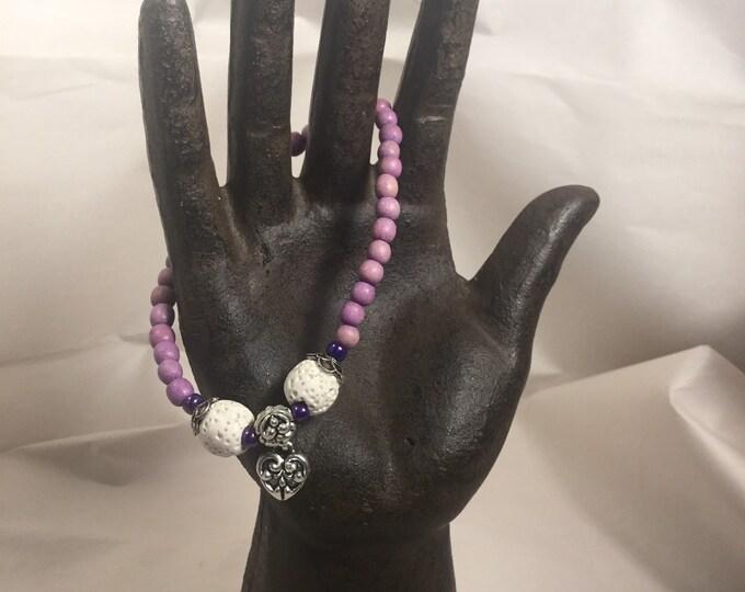 Valentines bracelet / diffuser bracelet / essential oils /heart bracelet / silver heart bracelet