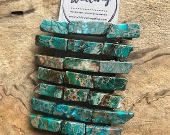Turquoise Stone hair clip/ turquoise hair barrette / druzy hair clip/ hair accessory / raw stone hair clip/ boho hair clip/ hair barrette