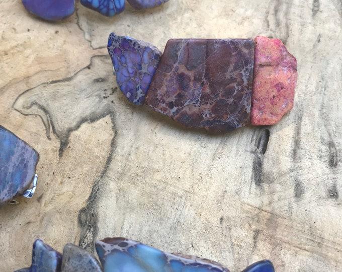 Purple Stone hair clip/ purple hair barrette / druzy hair clip/ hair accessory / raw stone hair clip/ boho hair clip/ hair barrette