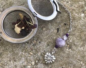 Purple/ heart Tea infuser/ Purple Heart tea infuser/ tea strainer / loose leaf tea strainer/ loose leaf tea infuser
