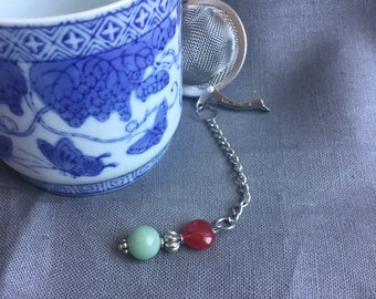 Tea infuser/ jade tea infuser/ tea strainer / loose leaf tea strainer/ loose leaf tea infuser