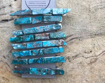 Extra large turquoise stone hair clip 4 inch/ aqua hair barrette / druzy hair clip/ hair accessory raw stone hair clip/ hair barrette