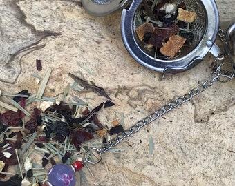 Fun Floral Tea infuser/ purple hand painted flowers tea infuser/ pretty tea strainer / loose leaf tea strainer/ loose leaf tea infuser