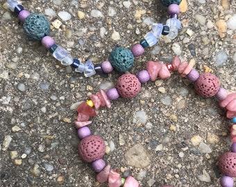 Diffuser bracelet- moonstone/ green/ pink/ lava/ rose quartz / wood/stone beachy/ Diffuser Bracelets / Essential Oils Jewelry