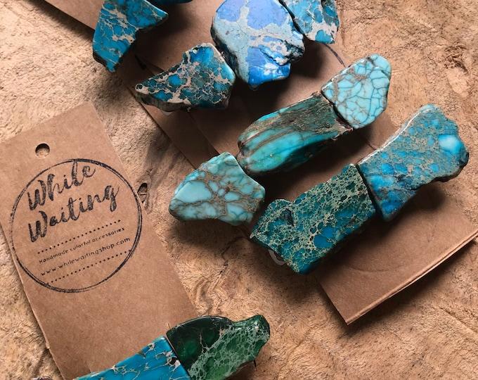 Wholesale stone hair clips/  5 turquoise hair barrettes / / hair accessory / stone hair clip/ boho hair clip/ blue hair barrette